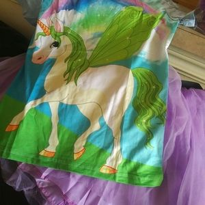 Girls unicorn tutu skirt combo sz7/8